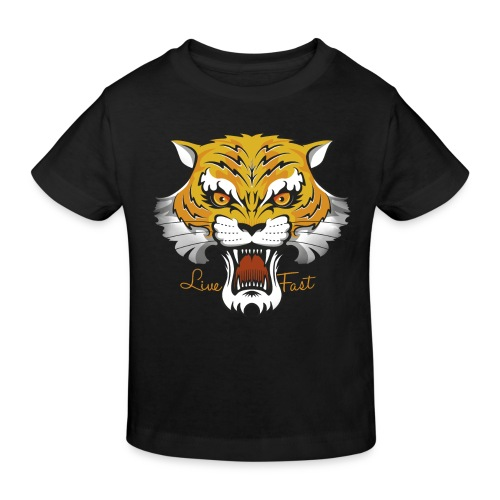 Tiger - Live Fast - Kinder Bio-T-Shirt