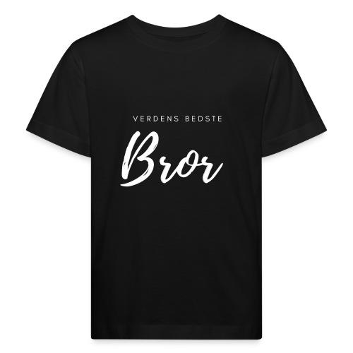 Verdens bedste bror, hvidt print - Organic børne shirt