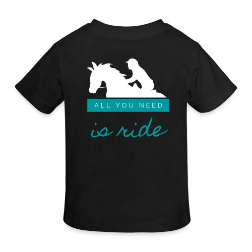 Logo All you need is Ride Bleu Boy - T-shirt bio Enfant
