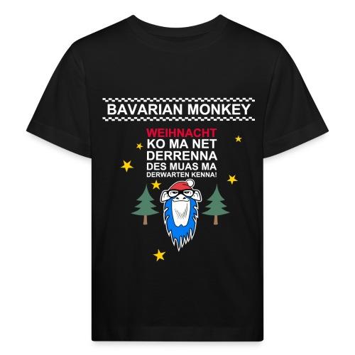 Bavarian Monkey derwarten kenna - Kinder Bio-T-Shirt