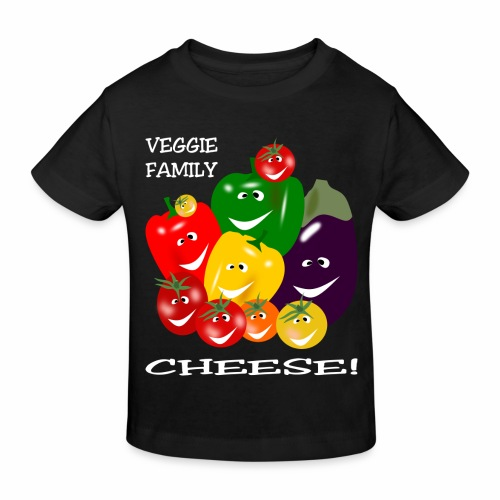 Veggie Family - Cheese! - Kids' Organic T-Shirt