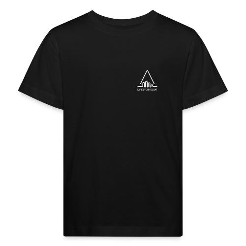 'Kiipeilyurheilijat' Logo White - Lasten luonnonmukainen t-paita
