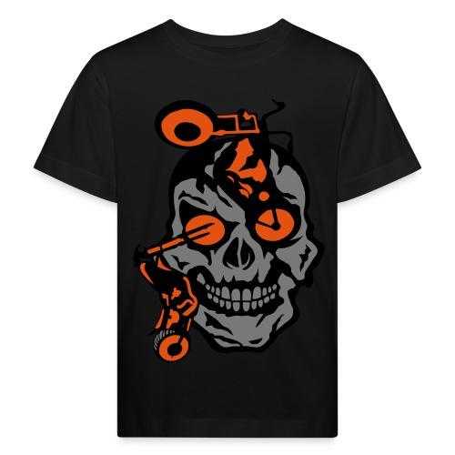 tete mort moto motrocycle oeil skull - T-shirt bio Enfant