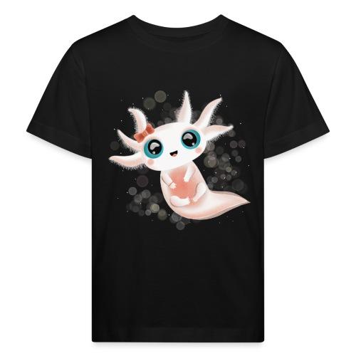 Baby Axolotl mit grossen Kulleraugen - Kinder Bio-T-Shirt