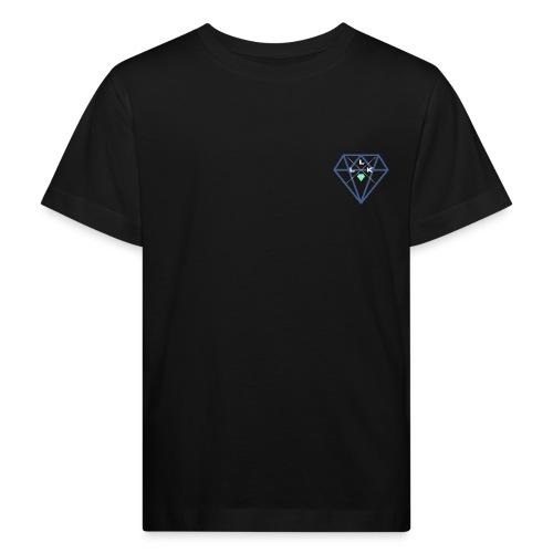 LLK Logo mit FarbDiamant Weiss - Kinder Bio-T-Shirt