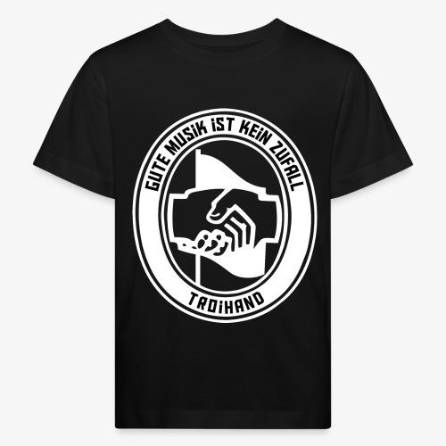 Logo Troihand invertiert - Kinder Bio-T-Shirt