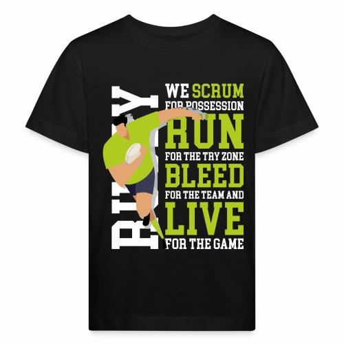 MarPlo Scrum Run Live whiteGreen - Maglietta ecologica per bambini