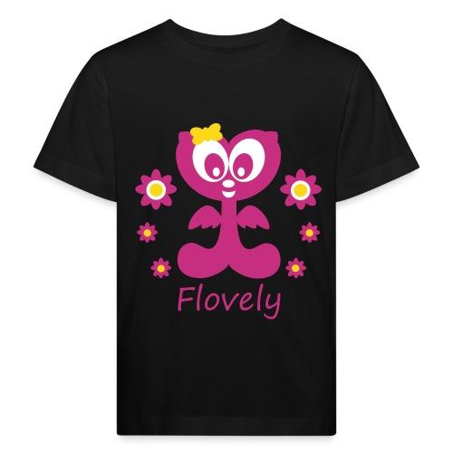 Flovely mit Blumen - Kinder Bio-T-Shirt