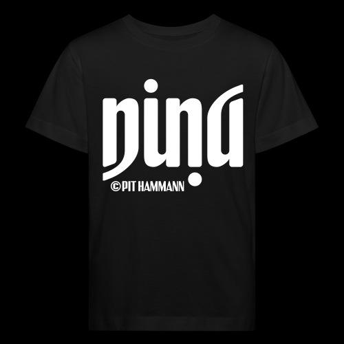 Ambigramm Nina 01 Pit Hammann - Kinder Bio-T-Shirt