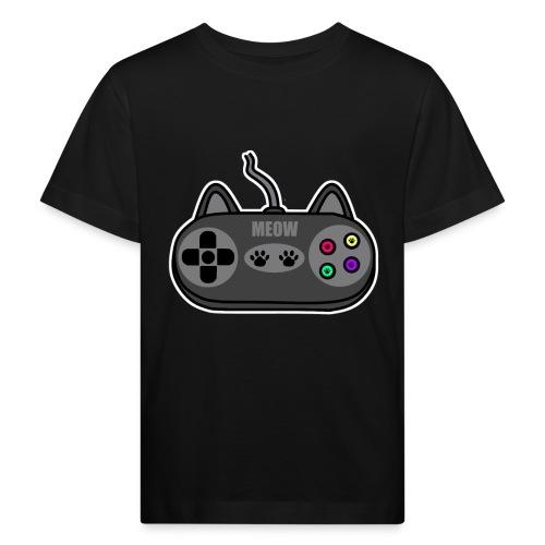 Katzen Gaming Kontroller - Kinder Bio-T-Shirt