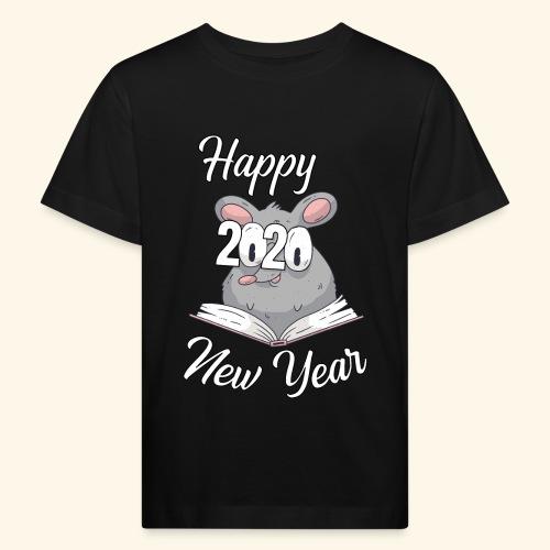 Happy New Year 2020 China Sternzeichen der Ratte - Kinder Bio-T-Shirt