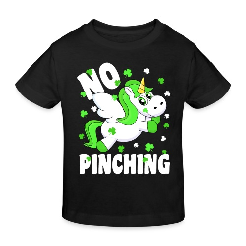 St. Patricks Day No Pinching Unicorn - Kinder Bio-T-Shirt