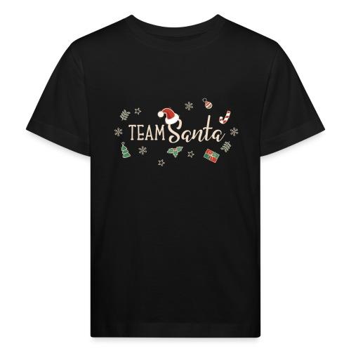 Team Santa Outfit für Familien Weihnachtsoutfit - Kinder Bio-T-Shirt