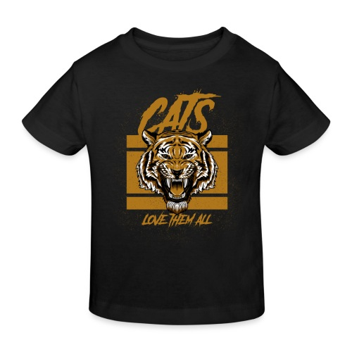 Cats, love them all - Kinderen Bio-T-shirt