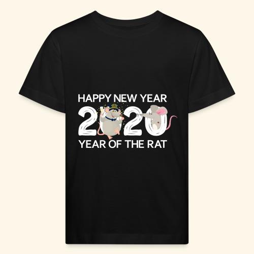 Happy New Year 2020 Gutes Neues Jahr der Ratte - Kinder Bio-T-Shirt