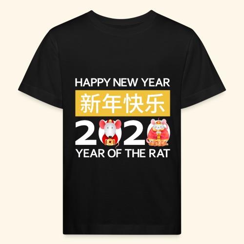 Happy New Year 2020 China Neujahr Horoskop Ratte - Kinder Bio-T-Shirt
