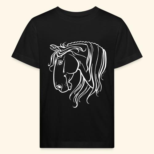 Cheval espagnol (blanc) - T-shirt bio Enfant