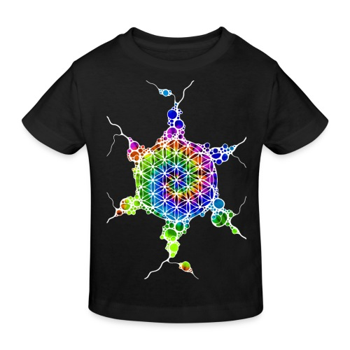 Flower Of Life Neuro Art 4 - Kinder Bio-T-Shirt