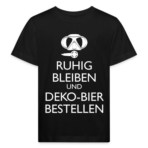 Ruhig bleiben und Deko-Bier bestellen Umhängetasc - Kinder Bio-T-Shirt