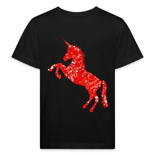 unicorn red - Ekologiczna koszulka dziecięca