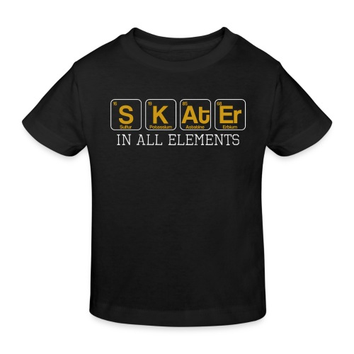 Skater In All Elements Periodic Table Science - Kinder Bio-T-Shirt