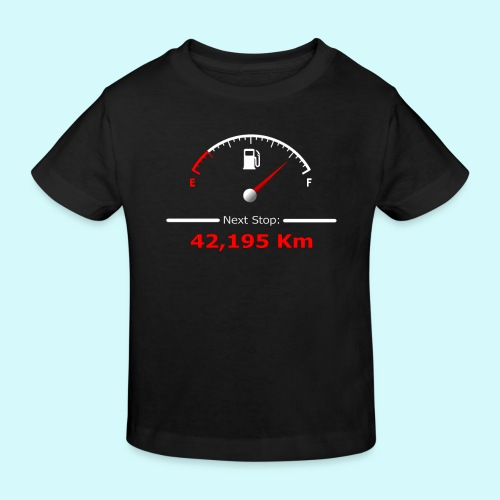Laufen / Run 42 km - Next Stop - Laufmotivation - Kinder Bio-T-Shirt