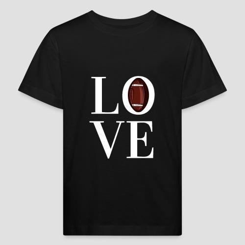 DESIGN football love coloured - Kinder Bio-T-Shirt