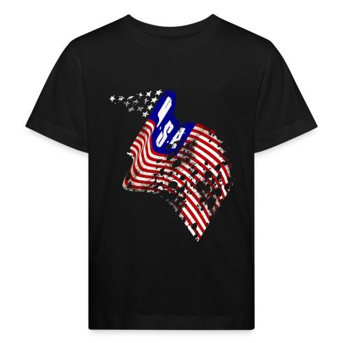 Worn-out USA flag - Ekologisk T-shirt barn