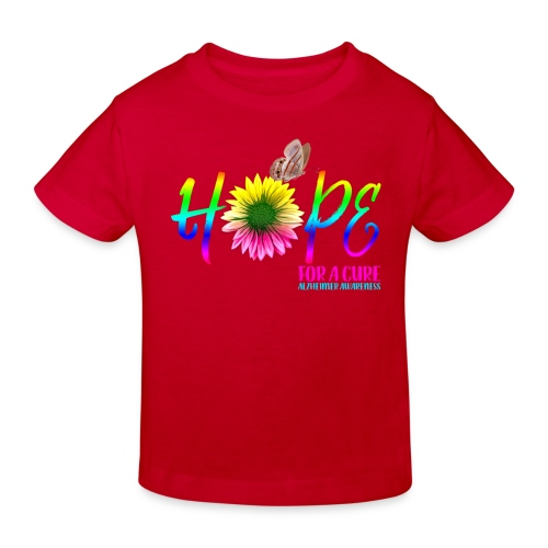 Hope For A Cure Alzheimer Awareness - Kids' Organic T-Shirt