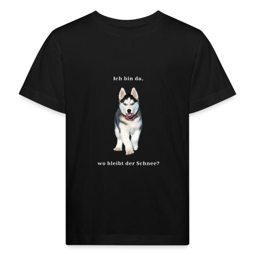 Husky Welpen mit bezaubernden Augen - Kinder Bio-T-Shirt
