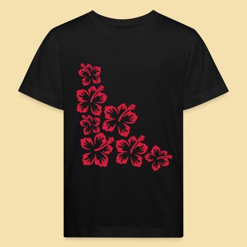 Hibiskus Blueten Ecke - Kinder Bio-T-Shirt