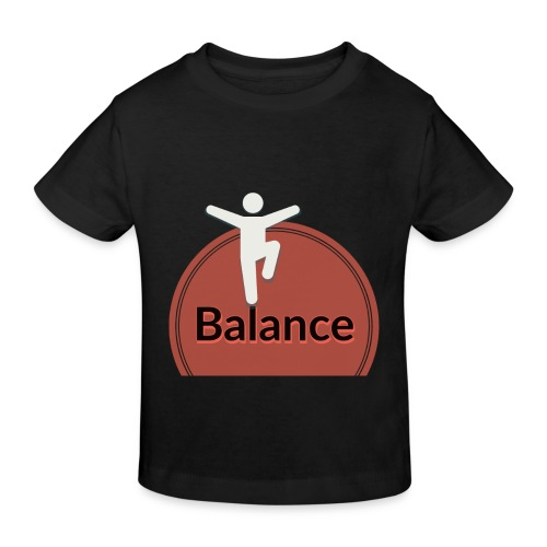 Balance pink black - Kids' Organic T-Shirt