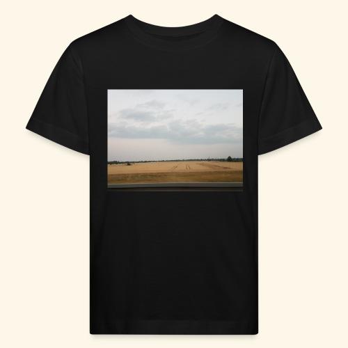 Feld und Wolken - Kinder Bio-T-Shirt