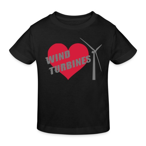 wind turbine grey - Kids' Organic T-Shirt