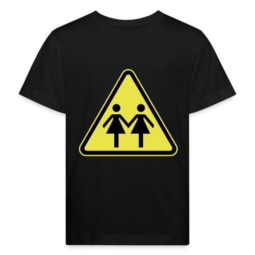 ACHTUNG LESBEN POWER! Motiv für lesbische Frauen - Kinder Bio-T-Shirt