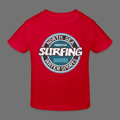 North Sea Surfing (oldstyle) - Ekologiczna koszulka dziecięca