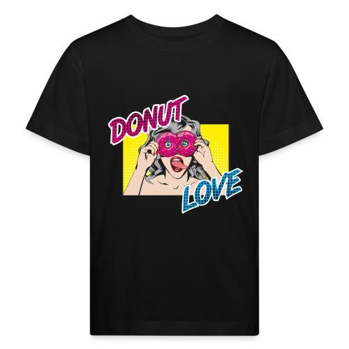 Popart - Donut Love - Zunge - Süßigkeit - Kinder Bio-T-Shirt