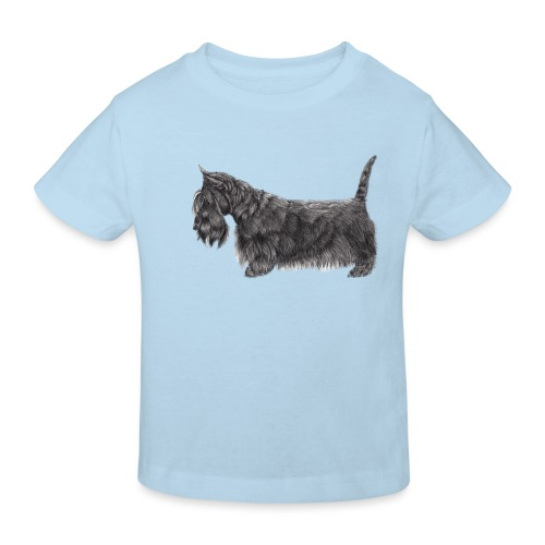 skotsk terrier ub - Organic børne shirt