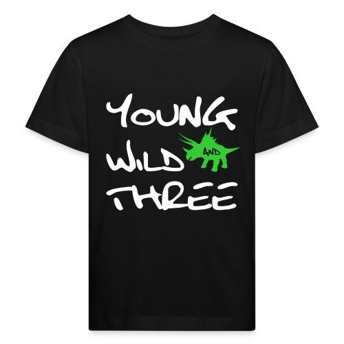 3 Jahre 3.Geburtstag Junge Bub Dinosaurier Shirt - Kinder Bio-T-Shirt