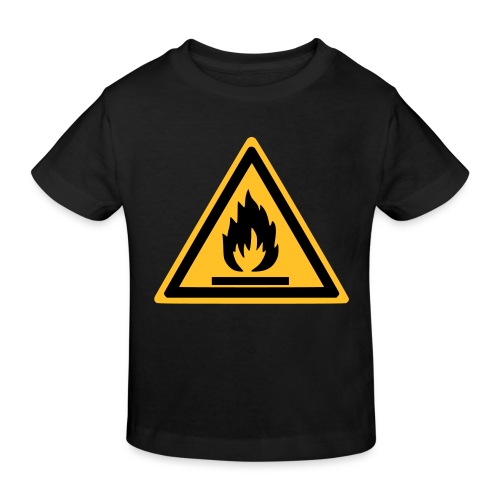 Shorty Noir Inflammable - T-shirt bio Enfant