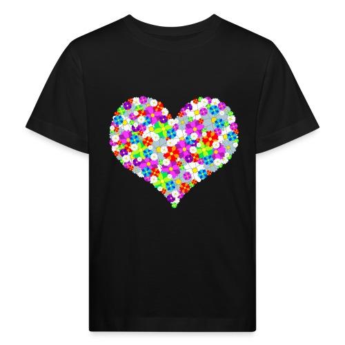Blumenherz - Kinder Bio-T-Shirt