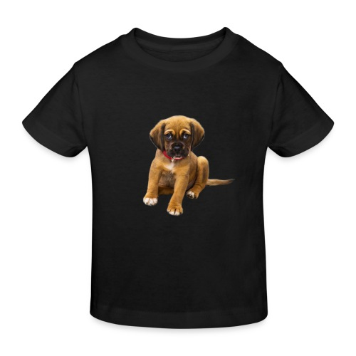Süsses Haustier Welpe - Kinder Bio-T-Shirt