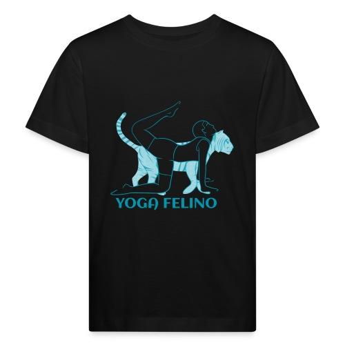 t shirt design YOGA FELINO - Maglietta ecologica per bambini