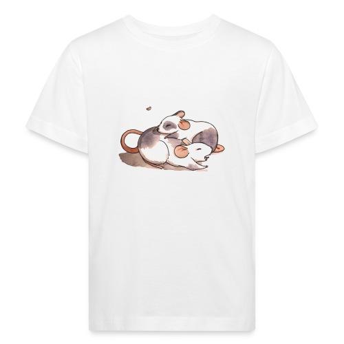 Mice cuddling - Kids' Organic T-Shirt
