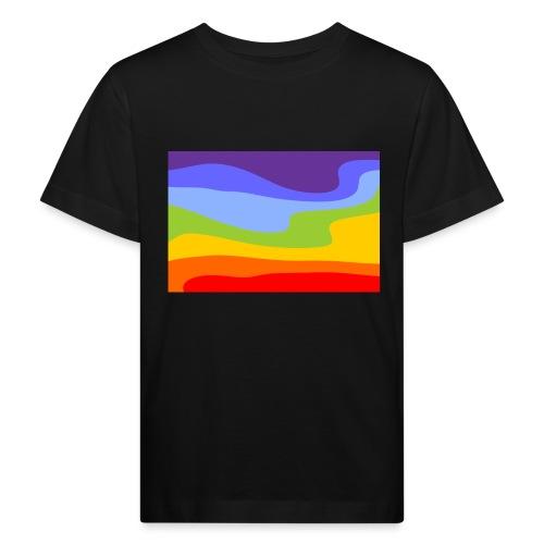 Hintergrund Regenbogen Fluss - Kinder Bio-T-Shirt