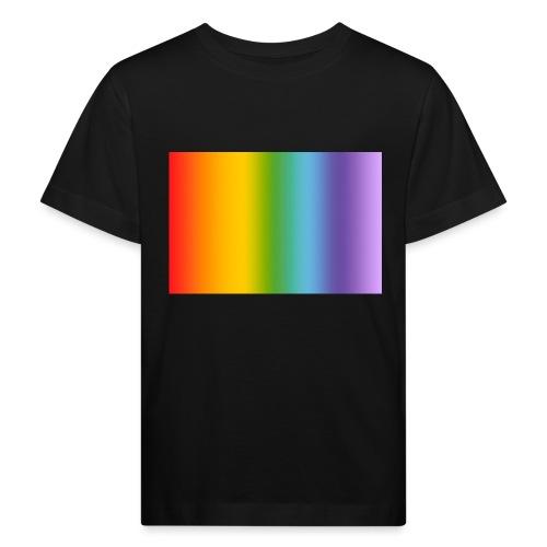 Hintergrund Regenbogen soft - Kinder Bio-T-Shirt