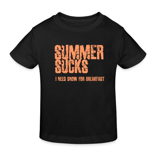 SUMMER SUCKS - Kids' Organic T-Shirt