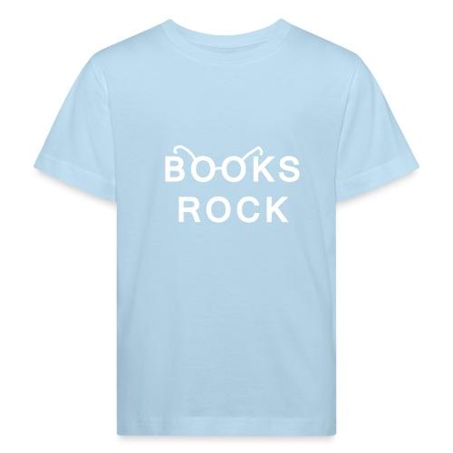 Books Rock White - Kids' Organic T-Shirt