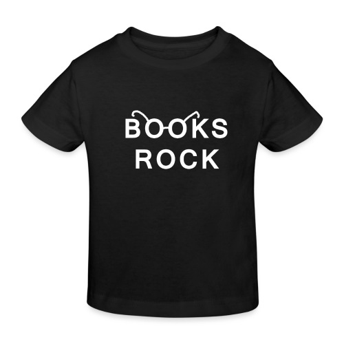 Books Rock White - Kids' Organic T-Shirt