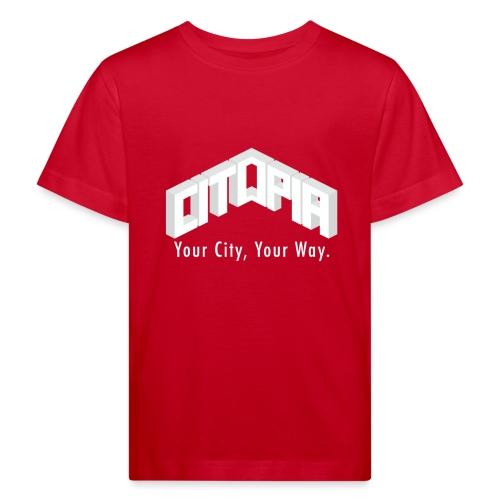 Logo with Slogan - Kids' Organic T-Shirt